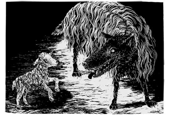 antje sellig illustration toydesign der wolf im schafspelz. Black Bedroom Furniture Sets. Home Design Ideas